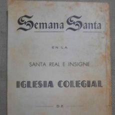 Arte: PROGRAMA RELIGIOSO.SEMANA SANTA EN LA SANTA REAL E INSIGNE.IGESIA COLEGIAL.JEREZ DE LA FRONTERA.. Lote 297036348