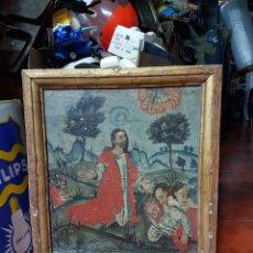Arte: CUADRO GÓTICO ANTIGUO DEL SIGLO XIV APROX MARAVILLOSA PIEZA JESÚS ORANDO EN EL HUERTO CON LOS APÓST. Lote 297104168