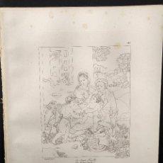 Arte: LA SAGRADA FAMILIA, RAFAEL SANZIO, GRABADO COBRE Nº 143, FIRMIN DIDOT 1844.. Lote 297157118