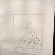 Arte: LA VIRGEN Y EL NIÑO JESUS, RAFAEL SANZIO, GRABADO COBRE Nº 144, FIRMIN DIDOT 1844.. Lote 297157318