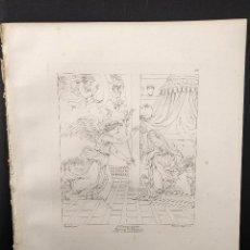 Arte: LA ANUNCIACIÓN, RAFAEL SANZIO, GRABADO COBRE Nº 151, FIRMIN DIDOT 1844.. Lote 297157833