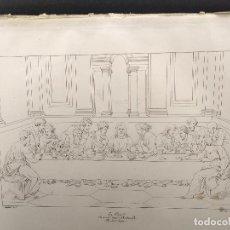 Arte: LA ULTIMA CENA, RAFAEL SANZIO, GRABADO COBRE Nº 152, FIRMIN DIDOT 1844.. Lote 297160088