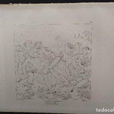 Arte: CRISTO EN LA TUMBA, RAFAEL SANZIO, GRABADO COBRE Nº 154, FIRMIN DIDOT 1844.. Lote 297160488