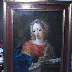 Arte: ÓLEO SOBRE CRISTAL. LA ANUNCIACIÓN A LA VIRGEN MARIA. S.XVIII. ESCUELA ACADEMICISTA.. Lote 297175873