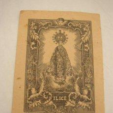Arte: NUESTRA SEÑORA DE LA ASUNCIÓN- ILICE- LIT.MODERNA - ALICANTE- MIDE 15 X 10 CM.. Lote 17350444