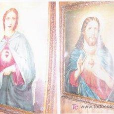 Arte: PAREJA DE CUADRO RELIGIOSOS *AÑOS 1800**. Lote 24996554
