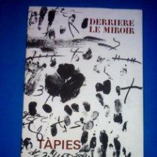 Arte: TÀPIES - DERRIÈRE LE MIROIR - - N º 175 – DICIEMBRE 1968. Lote 27615311