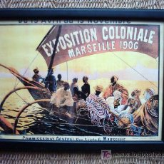 Arte: EXPOSITION COLONIALE MARSEILLE 1906. AFFICHES MOULLOT FILS AINE-MARSEILLE. 22 X 15 CM. . Lote 25544797
