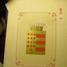 Arte: 1048 HERALDICA ESCUDO NOBILIARIO CONDE DE SALVATIERRA AÑOS 1850-1880 C&C. Lote 7957973