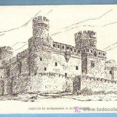 Arte: GRABADO CASTILLO DE MANZANARES EL REAL. MADRID. 16 X 24 CM. Lote 43464553