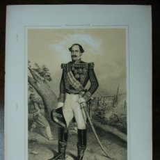 Arte - MILITAR. CAPITAN GENERAL DE CASTILLA LA VIEJA. 'FELIPE BIBERO'. LITPGRAFÍA. 45 X 32 CM. - 11068694