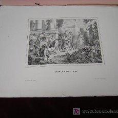 Arte: ADORACION DE LOS STOS REYES.DE LA COLECCION DE LITOGRAFIAS DE GALERIA CATOLICA. Lote 24321039
