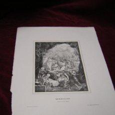 Arte: NACIMIENTO DE JESUS.DE LA COLECCION DE LITOGRAFIAS DE GALERIA CATOLICA.AÑO 1866. Lote 24798405