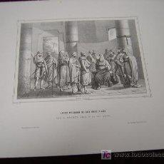 Arte: JACOB RODEADO DE SUS DOCE HIJOS.DE LA COLECCION DE LITOGRAFIAS DE GALERIA CATOLICA.AÑO 1866. Lote 27493227