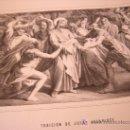 Arte: TRAICION DE JUDAS ISCARIOTE.DE LA COLECCION DE LITOGRAFIAS DE GALERIA CATOLICA.AÑO 1866. Lote 23991667