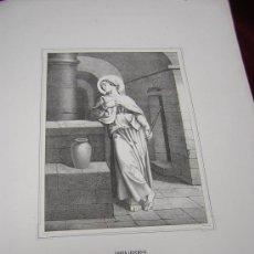 Arte: SANTAS LEOCADIA Y CECILIA-DE LA COLECCION DE LITOGRAFIAS DE GALERIA CATOLICA.AÑO 1866. Lote 22220784