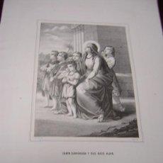 Arte: SANTA SINFOROSA Y SANTA FELICIA-COLECCION DE LITOGRAFIAS DE GALERIA CATOLICA.AÑO 1866. Lote 24503815