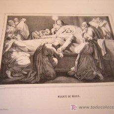 Arte: MUERTE DE MARIA Y GLORIFICACION DE MARIA-COLECCION DE LITOGRAFIAS DE GALERIA CATOLICA.AÑO 1866. Lote 25961771