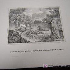Arte: ISAIAS VATICINANDO Y EL ANGEL REVELA....DE LA COLECCION DE LITOGRAFIAS.GALERIA CATOLICA.. Lote 27593367