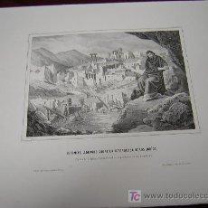 Arte: JEREMIAS LLORANDO LA DESTRUCCION DE LOS JUDIOS Y ...DE LA COLECCION DE LITOGRAFIAS.GALERIA CATOLICA.. Lote 25913037