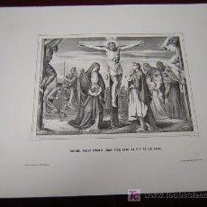 Arte: MARIA RECIBIENDO A JUAN POR HIJO,Y MARIA TENIENDO ..DE LA COLECCION DE LITOGRAFIAS.GALERIA CATOLICA.. Lote 18745564