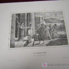 Arte: PODER ATRACTIVO DE SARA Y LA MADRE DE MOISES.. ..DE LA COLECCION DE LITOGRAFIAS.GALERIA CATOLICA.. Lote 24153301