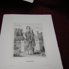 Arte: SANTA PUDENCIANA Y SANTA PRISCILA ..DE LA COLECCION DE LITOGRAFIAS.GALERIA CATOLICA.. Lote 24023868