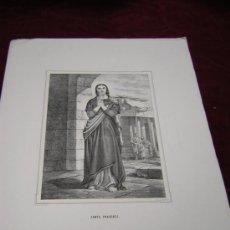 Arte: SANTA PRAXEDES Y SANTA PETRONILA ..DE LA COLECCION DE LITOGRAFIAS.GALERIA CATOLICA.. Lote 22756917