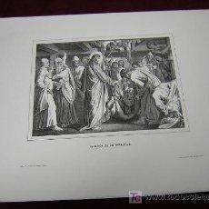 Arte: CURACION DE UN PARALITICO,JESUS Y LA PECADORA ..DE LA COLECCION DE LITOGRAFIAS.GALERIA CATOLICA.. Lote 26065772