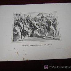 Arte: JESUS SUBIENDO AL CALVARIO..Y RESURECCION -DE LA COLECCION DE LITOGRAFIAS.GALERIA CATOLICA.. Lote 26307640