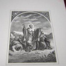 Arte: SAN LAZARO Y SAN TITO -DE LA COLECCION DE LITOGRAFIAS.GALERIA CATOLICA.. Lote 25113704