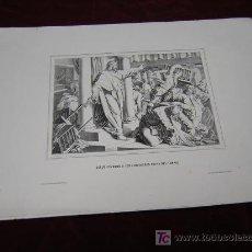 Arte: JESUS ECHANDO A LOS VENDEDORES Y JESUS DURMIENDO-DE COLECCION DE LITOGRAFIAS.GALERIA CATOLICA.. Lote 24424571