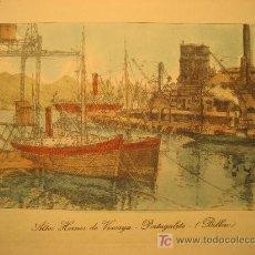 Arte: BILBAO. ALTOS HORNOS DE VIZCAYA. POTUGALETE. 20 X 15 CM.. Lote 22016872
