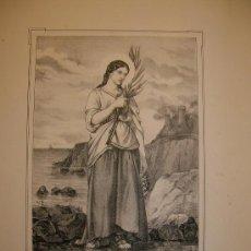 Arte: SANTA DOMITILA. ESTAMPA. S.XIX.. Lote 14794045