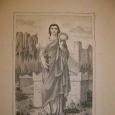 Arte: SANTA PUDENCIANA. ESTAMPA S.XIX.. Lote 14794096