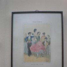 Arte: CONSTUNBRES ANDALUZAS BAILE DEL VITO. Lote 17350456
