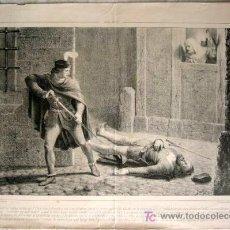 Arte: LIT. S. XIX. ESCENA DE LUCHA DE ESPADACHINES. LIT. DE SANTOS GONZALEZ. RUIZ EDITOR. 46 X 33 CM. Lote 17565799
