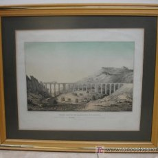 Arte: FERROCARRIL DE BARCELONA A ZARAGOZA. GRAN VIADUCTO DEL BUXADELL A 42 KM DE BARCELONA. MONTSERRAT. . Lote 18453091