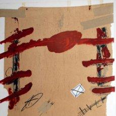 Arte: TÀPIES / CARTEL EXPOSICIÓN SEMANAS CATALANAS EN BERLÍN, 1978. FIRMADO PLANCHA. GRAN TAMAÑO. Lote 22536803