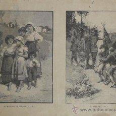 Arte: EXPOSICION NACIONAL DE BELLAS ARTES DE 1887 (LA ILUSTRACION IBERICA). Lote 21901649