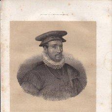 Arte: D. LUIS DE REQUESENS (MOLINS DE REY, BARCELONA, 1528 - BRUSELAS, 1576) - 1854. Lote 20330964