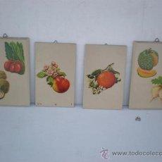Arte: 4 TABLA SERIGRAFIADAS EN FRUTAS AÑOS 60. Lote 22753369