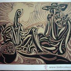Arte: PICASSO. GRABADO. PAPEL DE EDICIÓN. 39 X 32 CM. FIRMA GOFRADA.. Lote 27061488