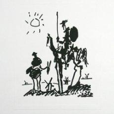 Arte: PABLO PICASSO / DON QUIJOTE . SERIGRAFÍA EDITADA COLDWATER COLECCIÓN, NEW YORK. Lote 27224829