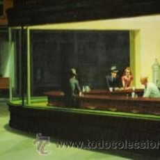 Arte: EDWARD HOPPER: HALCONES DE LA NOCHE (NOCTAMBULOS). CUADRO RELIZADO EN TABLA DE 100 X 50 CM. . Lote 36312090