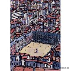 Arte: MADRID: PLAZA MAYOR. AUTOR: JOSE ALCALÁ. CUADRO REALIZADO EN TABLA DE 70 X 50 CM. . Lote 27512490