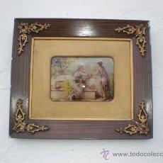Arte: CENA ROMANTICA MARCO ANTIGUO. Lote 23993087