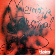Arte: TAPIES, A. (1923-2012). MEMORIA PERSONAL. 1988. LIMITADA 700 EJ. F-H Nº179. GALFETTI 1211.. Lote 26953237