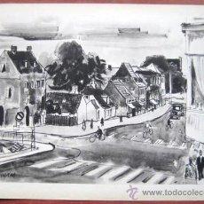 Art: LITO AÑOS 60. DE ACUARELA DE FEDERICOI LLOVERAS. .. ENVIO GRATIS¡¡¡. Lote 24361091
