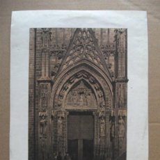 Arte: PUERTA LATERAL DE LA FACHADA CATEDRAL DE SEVILLA. Lote 24571326